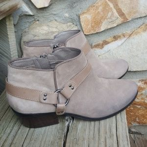 Women's Sam Edelman Taupe Suede Ankle Boots